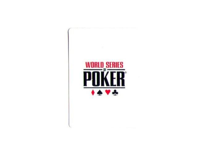100% plastová krycia karta WSOP biela