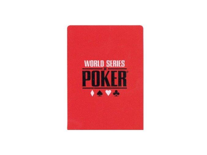 100% plastiková krycia karta WSOP červená