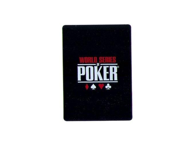 100% plastiková krycia karta WSOP čierna
