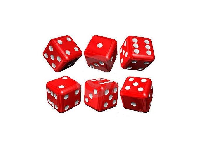 Hracia kocka červená  16 mm