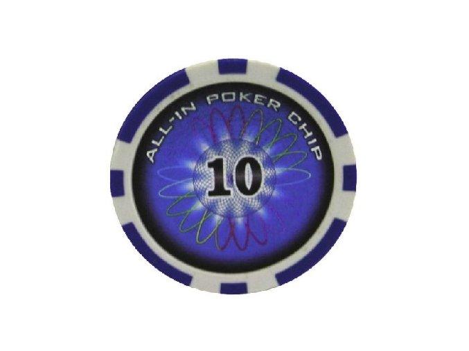 Poker chip All In hodnota 10