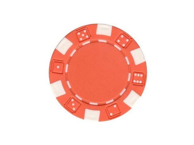 Poker chip bez hodnoty DICE oranžová
