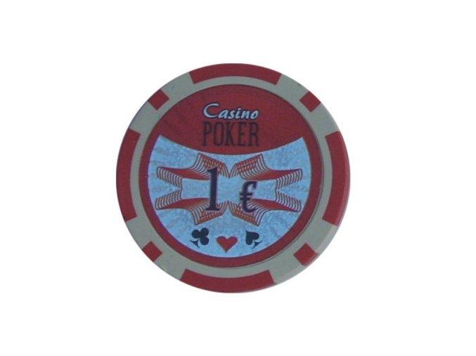 Poker chip cash game hodnota 1€