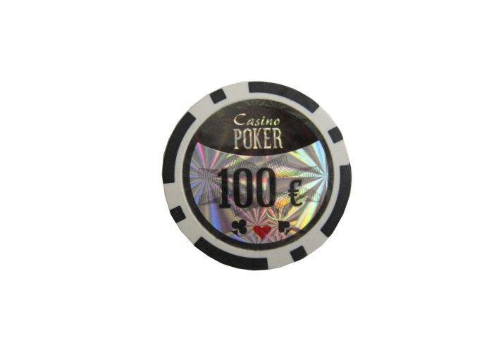 Poker chip cash game hodnota 100 €