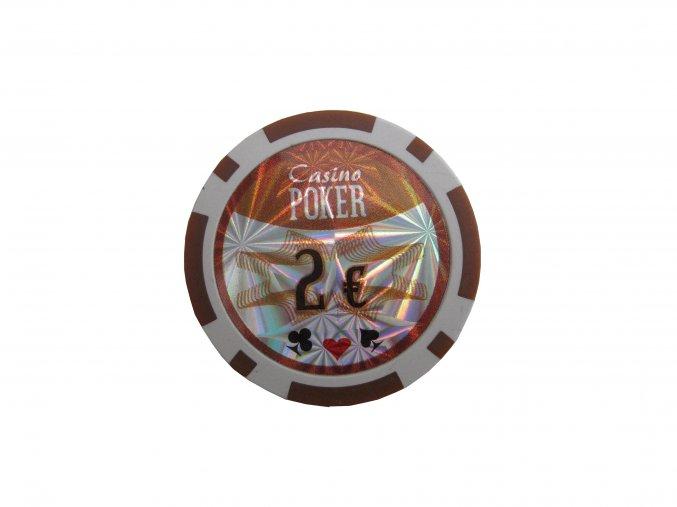 Poker chip cash game hodnota 2 €