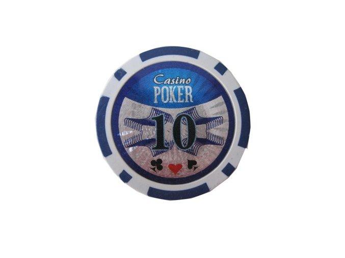 Poker chip Casino POKER hodnota 10