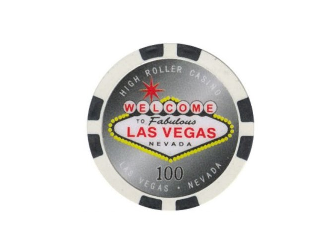 Poker chip HIGHROLLER hodnota 100