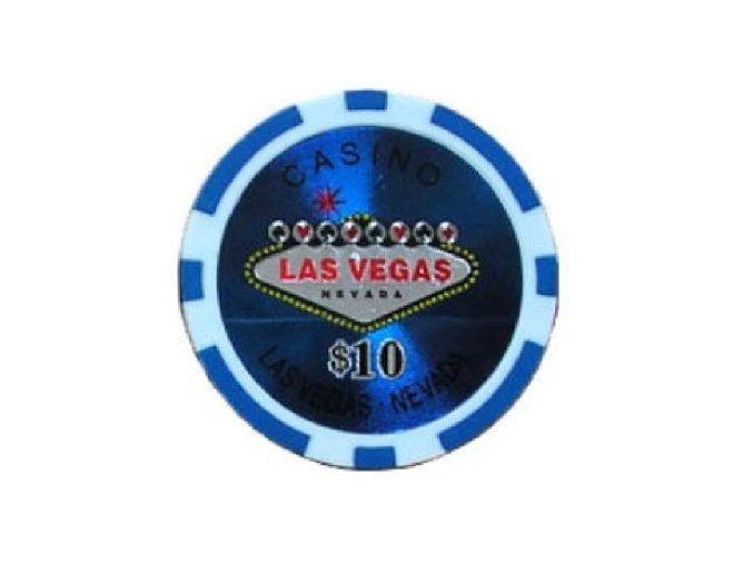 Poker chip Las Vegas hodnota 10