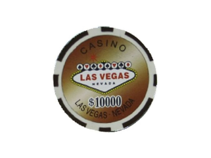Poker chip LAS VEGAS hodnota 10 000