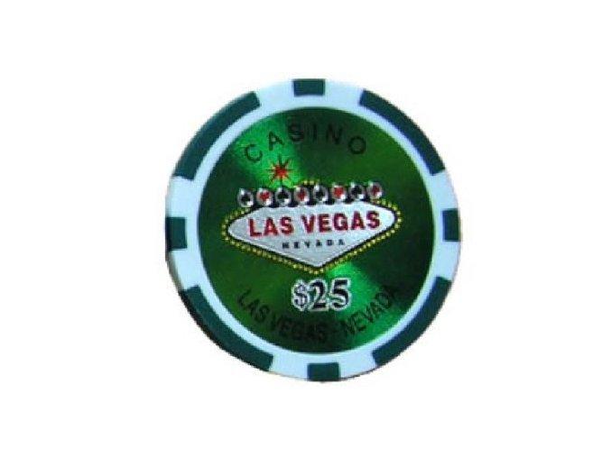 Poker chip Las Vegas hodnota 25