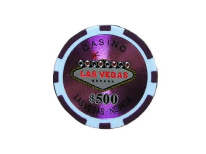 Poker chip LAS VEGAS hodnota 500