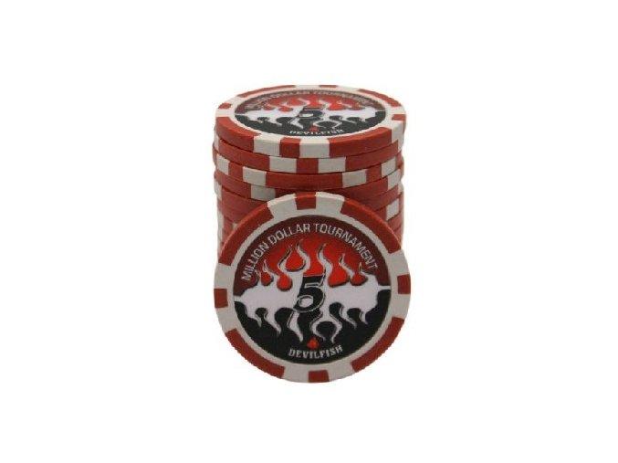 Poker chip plastový s vlastným logom