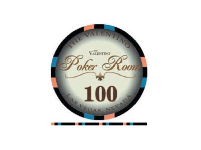 Poker chip Valentino hodnota 100