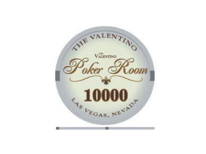 Poker chip Valentino hodnota 10 000