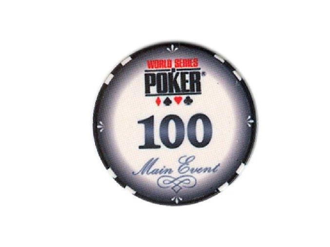 Poker chip WSOP hodnota 100