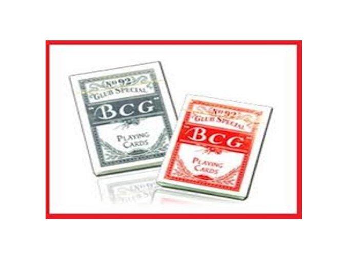 Pokrové hracie karty BCG papierové modré