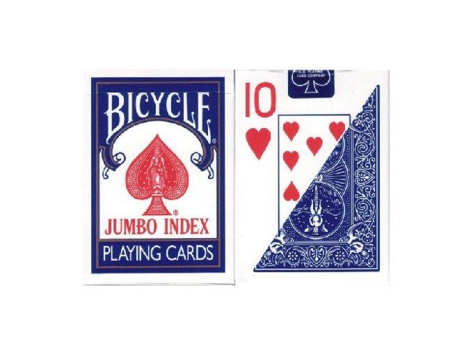 Pokrové hracie karty Bicycle modré veľký index