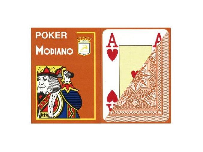 Pokrové hracie karty Modiano hnedé veľký index