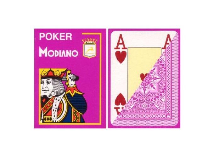 Pokrové hracie karty Modiano ružové veľký index