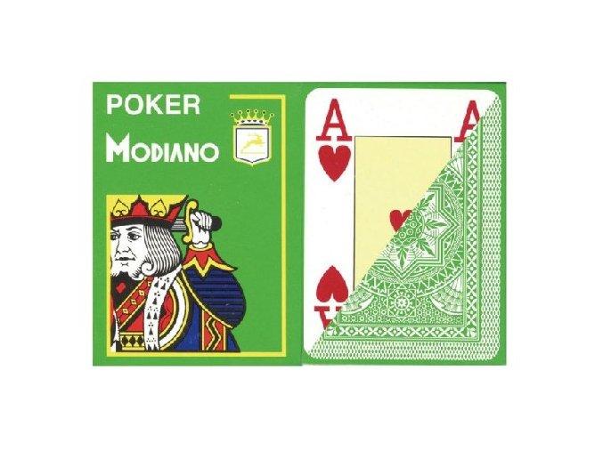 Pokrové hracie karty Modiano svetle zelené veľký index