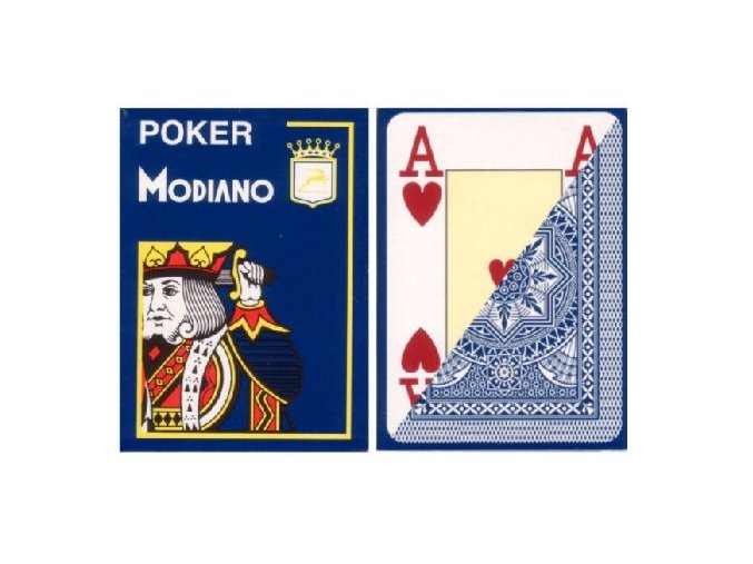 Pokrové hracie karty Modiano tmavo modré veľký index