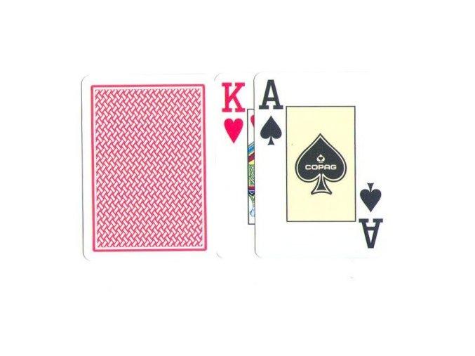 Pokrové hracie karty Texas Hold´em Copag červeno zlatá veľký index