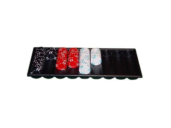 Pokrový chiptray čierny pre 500 žetónov
