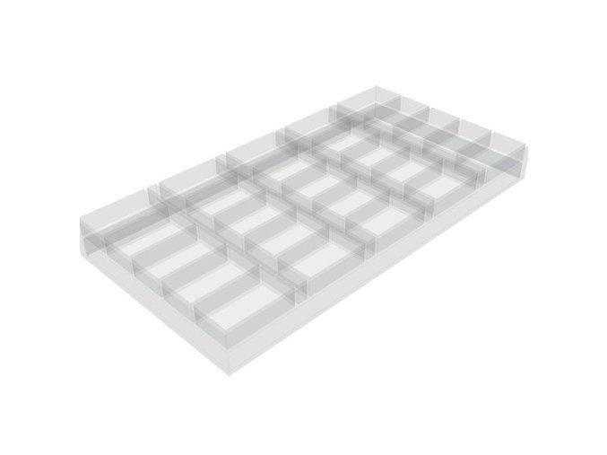 Pokrový chiptray plastový pre 500 žetónov