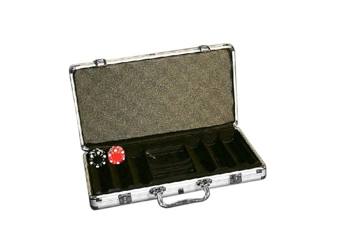 Pokrový kufrík Alu pre 300 chips