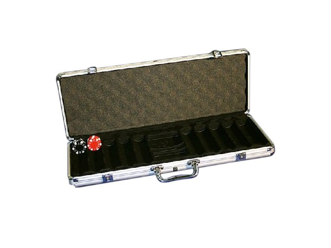 Pokrový kufrík Alu pre 500 chips