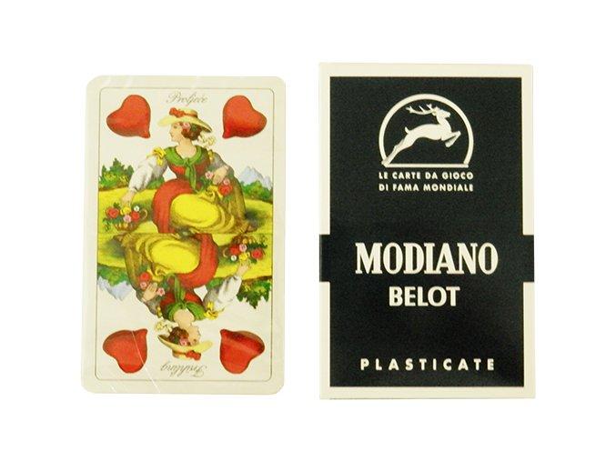 Sedmové karty MODIANO BELOT