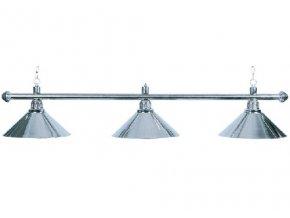 Lampa DE LUXE 3 tienidlá nad pokrový stôl strieborná