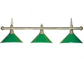 Lampa DE LUXE 3 tienidlá nad pokrový stôl zelená