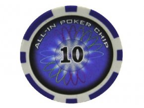 Poker chip All In hodnota 10