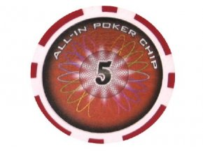 Poker chip All In hodnota 5