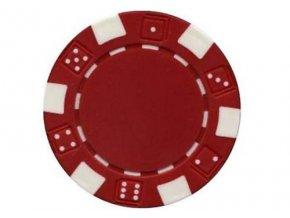 Poker chip bez hodnoty DICE červená