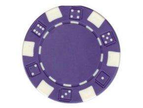 Poker chip bez hodnoty DICE fialová