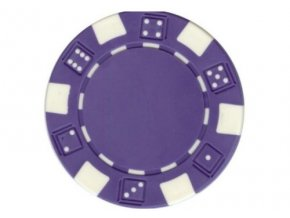 Poker chip bez hodnoty DICE fialový