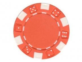 Poker chip bez hodnoty DICE oranžový
