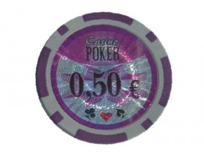 Poker chip cash game hodnota 0,50 €