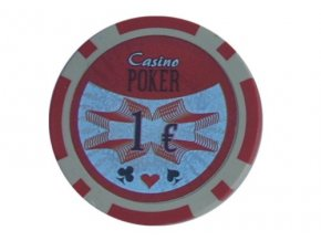 Poker chip cash game hodnota 1€