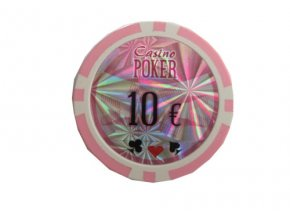 Poker chip cash game hodnota 10 €