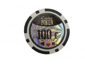 Poker chip cash game hodnota 100 €