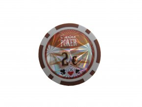 Poker chip cash game hodnota 2 €