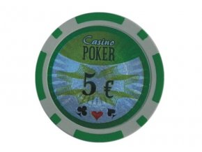Poker chip cash game hodnota 5 €
