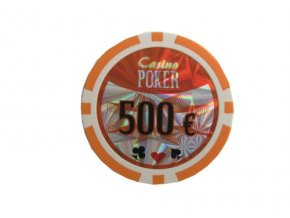 Poker chip cash game hodnota 500 €