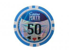 Poker chip Casino Poker hodnota 50