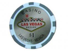 Poker chip LAS VEGAS hodnota 1