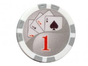 Poker chip Royal Flush hodnota 1