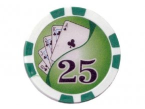 Poker chip Royal Flush hodnota 25